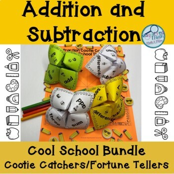 Subtraction and Addition Facts Cootie Catcher Bundle
