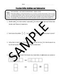 Subtraction and Addition of Fraction Drills