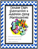 Subtraction and Addition up to 30 Using Manipulatives