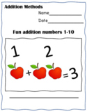 Subtraction  and Addition Bundle Workpack  activities and