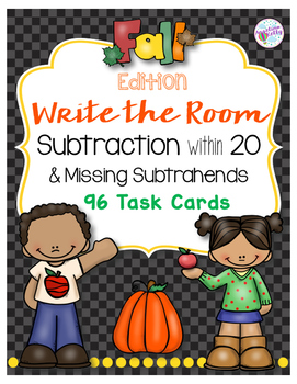 Subtraction and Missing Subtrahends within 20