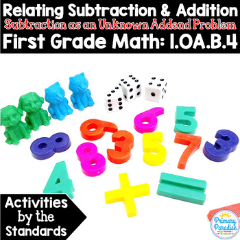Subtraction as an Unknown Addend Problem: 1.OA.B.4 Common Core Math
