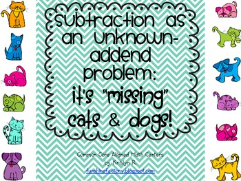 Subtraction as an Unknown-Addend Problem Math Centers (Com