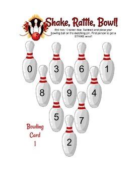 Subtraction bowling common core center activity
