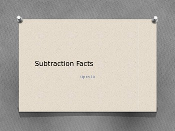 Subtraction facts 10 to 0 with stars