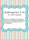 Subtraction facts 5-10 Packet