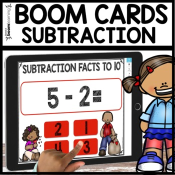Subtraction facts to 10 BOOM CARDS