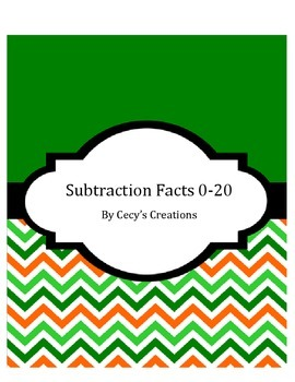 Subtraction facts to 20