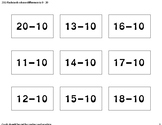 Subtraction flashcards 1-20