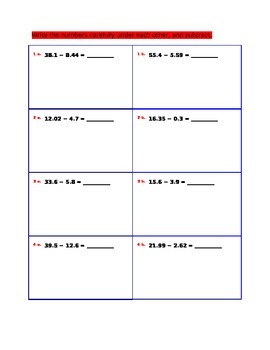 Subtraction for 4th Grade