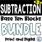 Subtraction for Google Classroom - Base Ten Blocks - Digital - Distance Learning