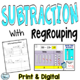 Subtraction for Google Classroom - Base Ten Blocks - Distance Learning