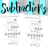 Subtraction for PreK - Kindergarteners (Eng. & Span.)