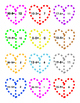 Subtraction for Valentine's Day ~ Holiday Fun ~ 36 - 2 piece Printable Puzzles