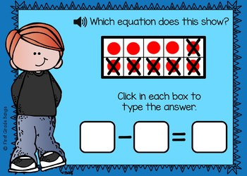 Subtraction from 10 Boom Cards Digital Resource
