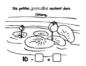 Subtraction from 10- French Immersion