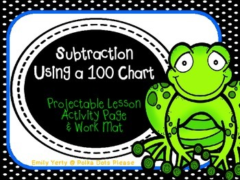 FREE Subtraction from 20 Using a Hundred Chart Common Core Math