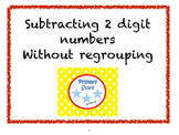 Subtraction from a 2 digit number without regrouping