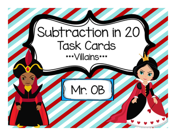 Subtraction in 20 - Villain Themed Task Cards