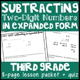 Subtraction in Expanded Form, 2-Digit Subtraction w Regrouping, Practice Packet