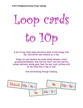 Subtraction loop cards to 10p