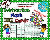 Subtraction math facts cards