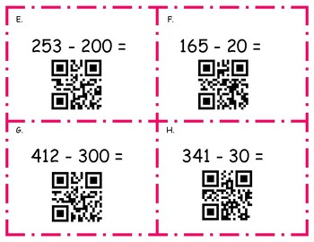 Subtraction of 10's and 100's