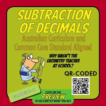 Subtraction of Decimals – Australian Curriculum Year 6 – Extension Activity