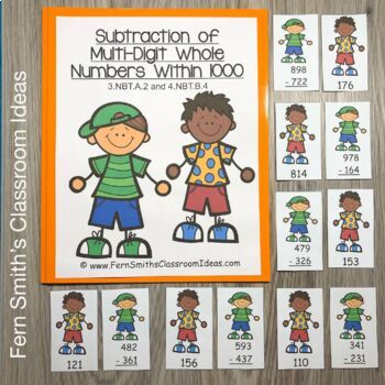 3rd Grade Go Math 1.10 Subtraction of Multi-Digit Numbers To 1000 Bundle