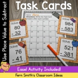 3rd Grade Go Math 1.10 Subtraction Multi-Digit Whole Numbers To 1000 Task Cards