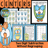 Subtraction of Two Digit Numbers Without Regrouping Math Center Games