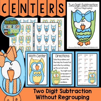 Subtraction of Two Digit Numbers Without Regrouping Math C