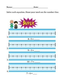 Subtraction on a Number-line