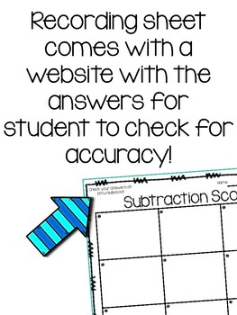 Subtraction scoot/task cards with regrouping