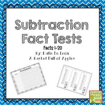 Subtraction Fact Tests 1-20