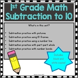 Subtraction to 10