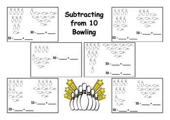 Subtraction to 10 Bowling