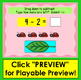 Boom Cards Math Subtraction to 10: Drag to Subtract & Type the Answer