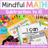 Subtraction to 10 Kindergarten