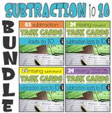 Subtraction to 10 Missing Addends Task Cards BUNDLE