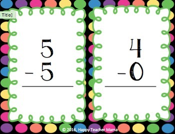 Subtraction to 10 {Posters, Task Cards, and Games}