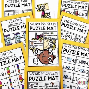 Subtraction to 10 PreK, Preschool, Kindergarten, First Grade | Puzzle Mats