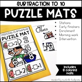 Subtraction to 10 PreK, Preschool, Kindergarten, First Gra