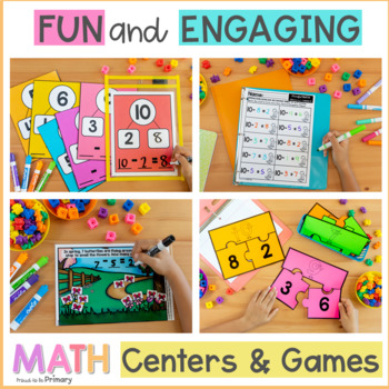 Subtraction to 10 First Grade