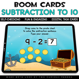 Subtraction to 10 for Boom Cards™