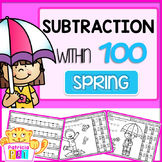 Coloring Pages Subtraction to 100 Color by Number