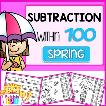 Double Digit Subtraction Worksheets Spring Math within 100
