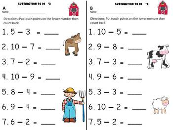 Subtraction to 20