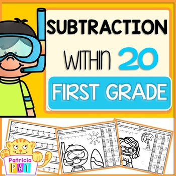 Subtraction to 20 Practice Color by Number Summer