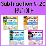 Subtraction to 20 Color by Code Worksheets